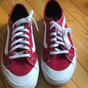 Men's Vans- red low top